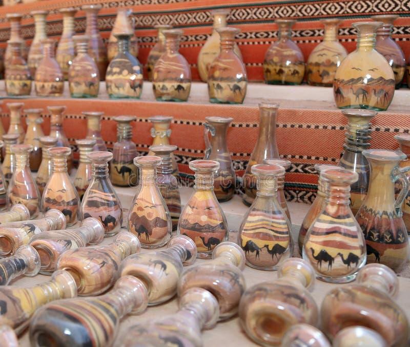 Traditionele lokale herinneringen in Jordanië stock afbeeldingen