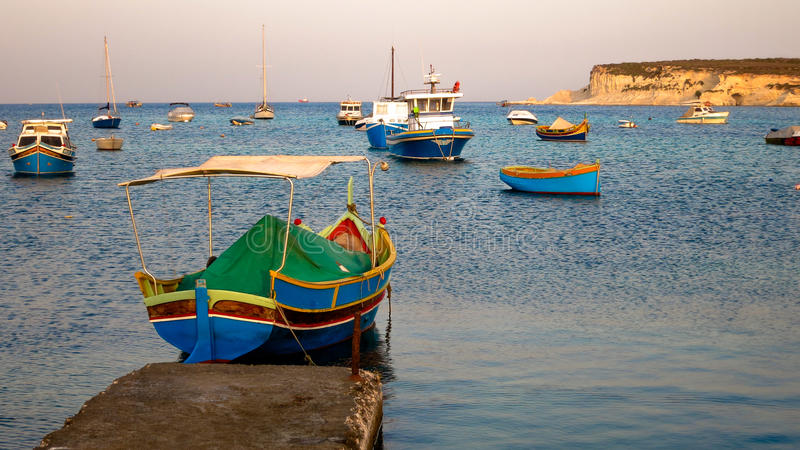 Traditionele Maltese boot stock fotografie