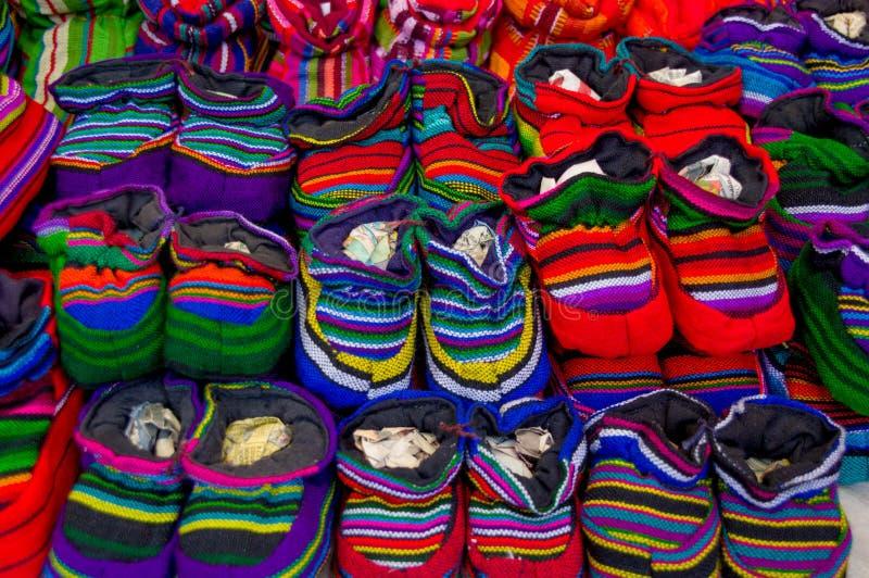 Traditionele mayan textiel stock afbeelding