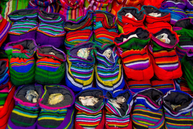 Traditionele mayan textiel stock afbeeldingen