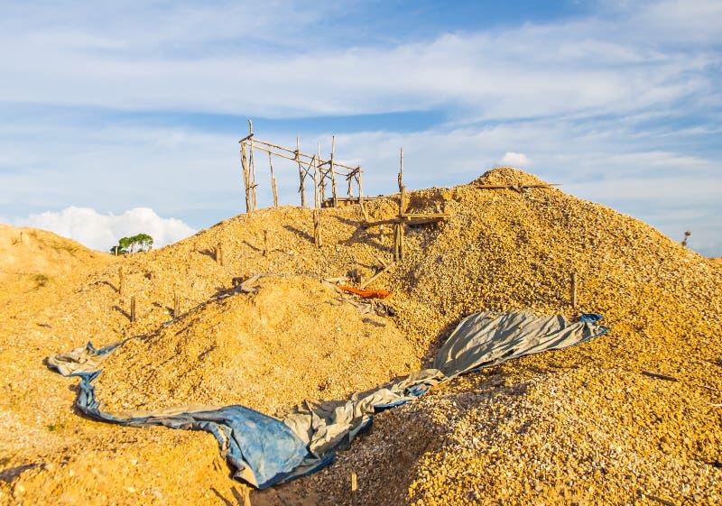 Traditionele mijnbouwlocatie in Martapura, Banjarbaru, Zuid-Kalimantan, Indonesië royalty-vrije stock foto