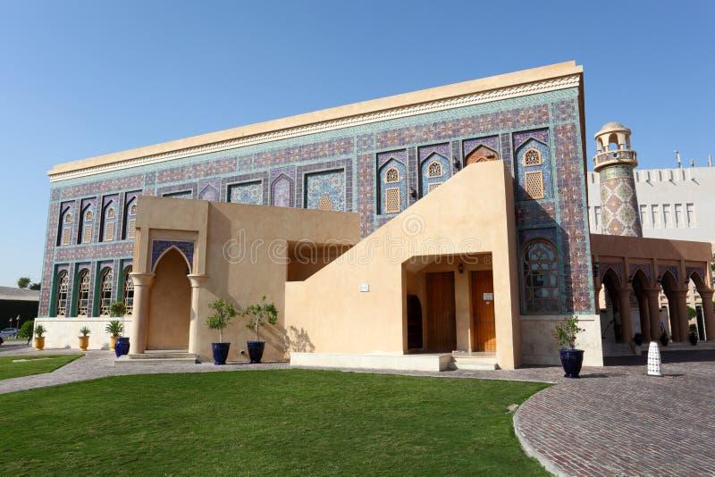 Traditionele moskee in Doha, Qatar royalty-vrije stock foto