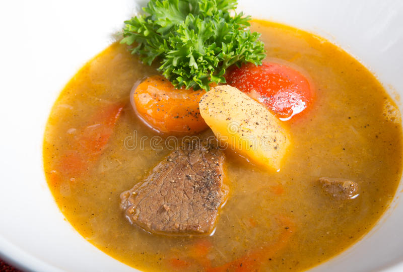 Traditionele Oezbekistaanse soep royalty-vrije stock foto