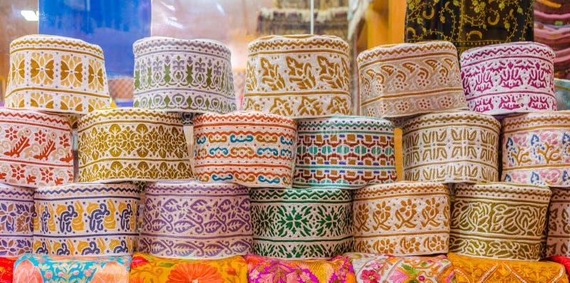 Traditionele Omani Kappen stock fotografie