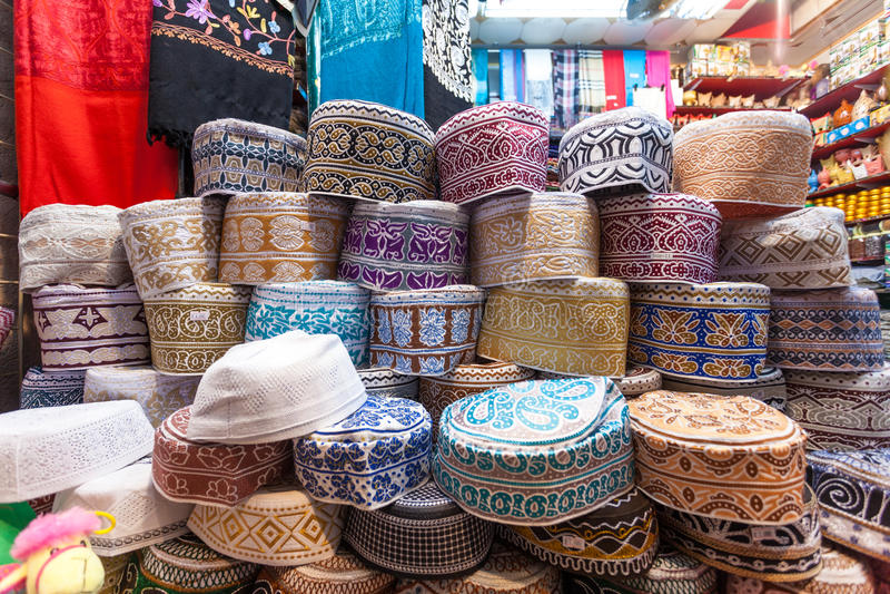 Traditionele Omani Kuma-hoeden stock fotografie