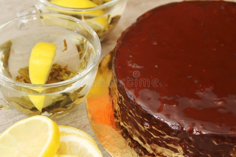 Traditionele Oostenrijkse Sacher-cake royalty-vrije stock foto's