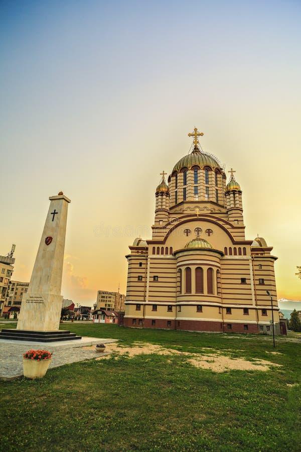 Traditionele Orthodoxe kerk in Fagaras royalty-vrije stock fotografie