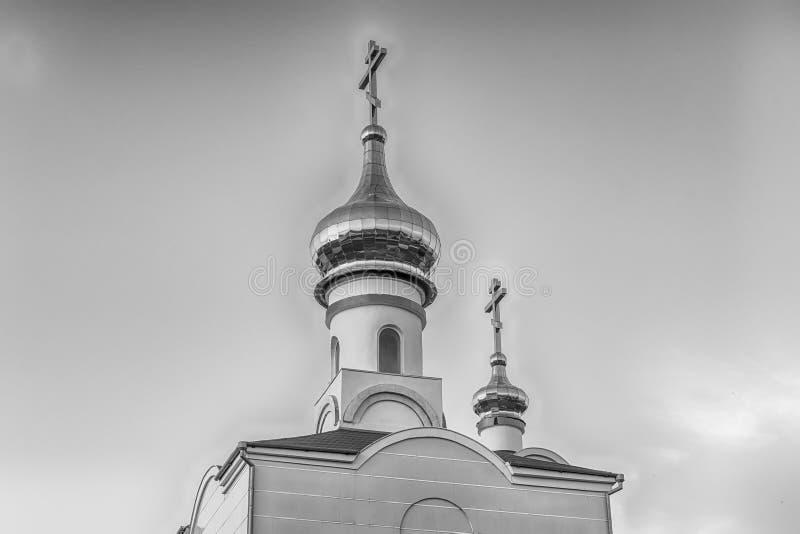 Traditionele orthodoxe kerk in Frunze, klein dorp in de Krim royalty-vrije stock foto's