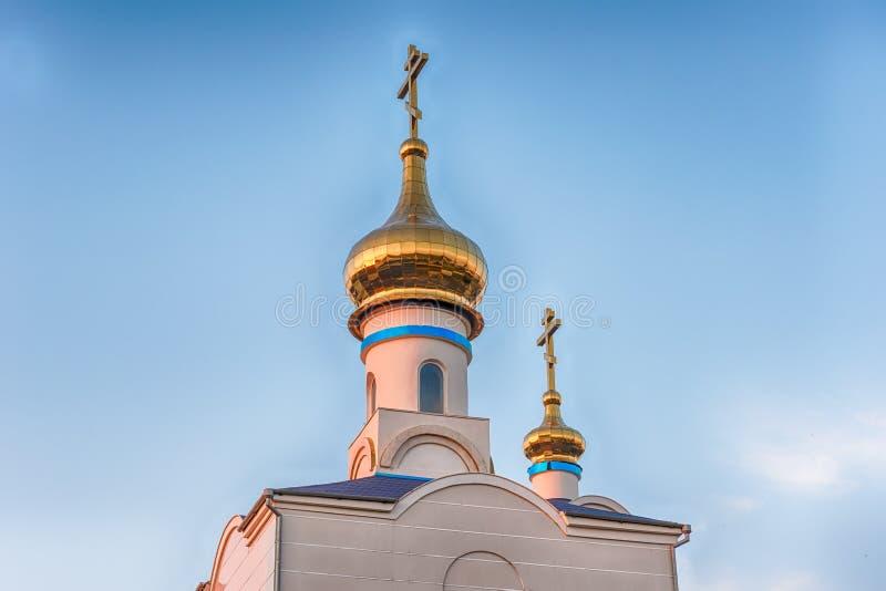Traditionele orthodoxe kerk in Frunze, klein dorp in de Krim royalty-vrije stock fotografie