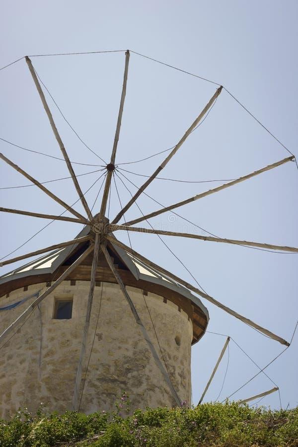 Traditionele Oude Windmolen royalty-vrije stock foto's