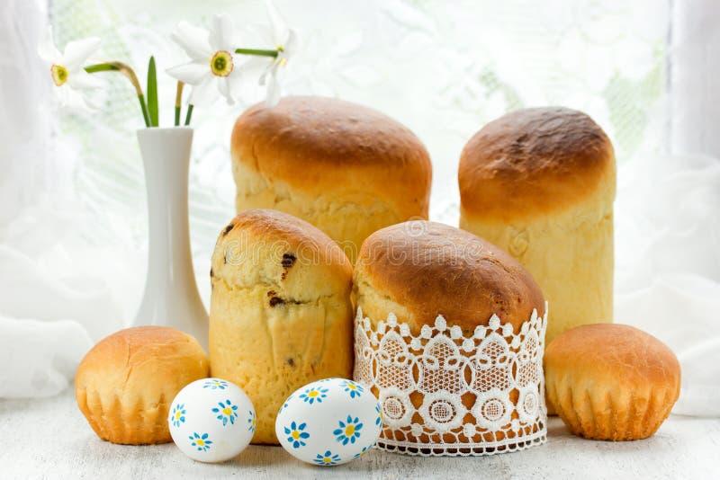 Traditionele Pasen-cake kulich royalty-vrije stock afbeelding