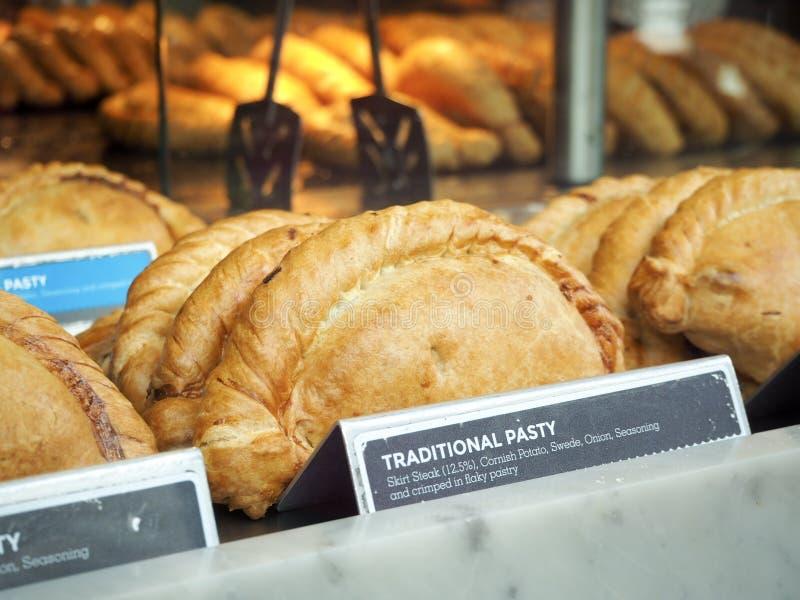 Traditionele pastei van Cornwall stock foto
