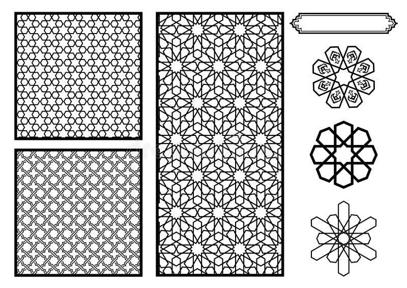 Traditionele Patronen Van het Middenoosten/Islamitische royalty-vrije illustratie