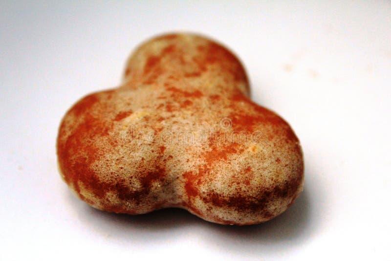 Traditionele poetsmiddelpeperkoek met bevroren suiker stock foto