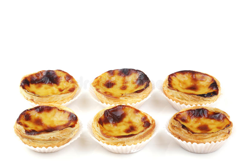 Traditionele Portugese roomcakes stock foto's