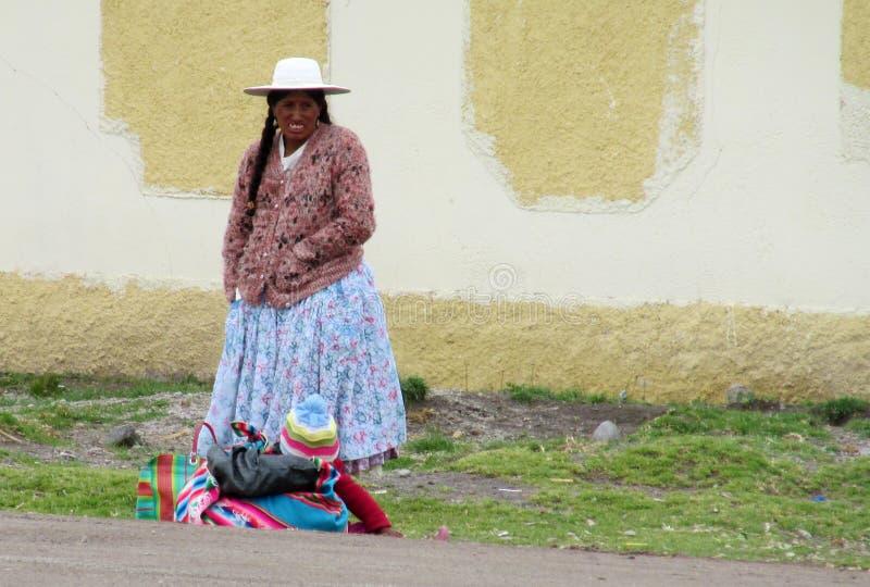 Traditionele Quechua Vrouw stock afbeelding