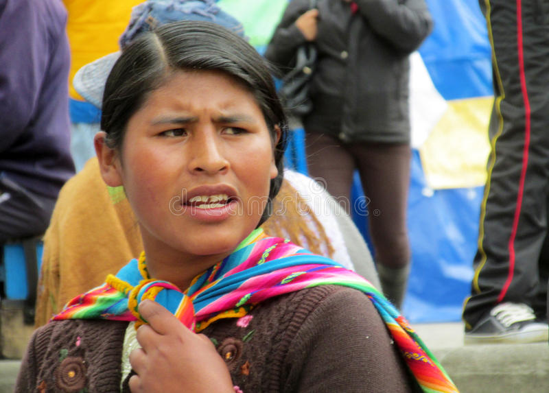 Traditionele Quechua Vrouw royalty-vrije stock afbeelding