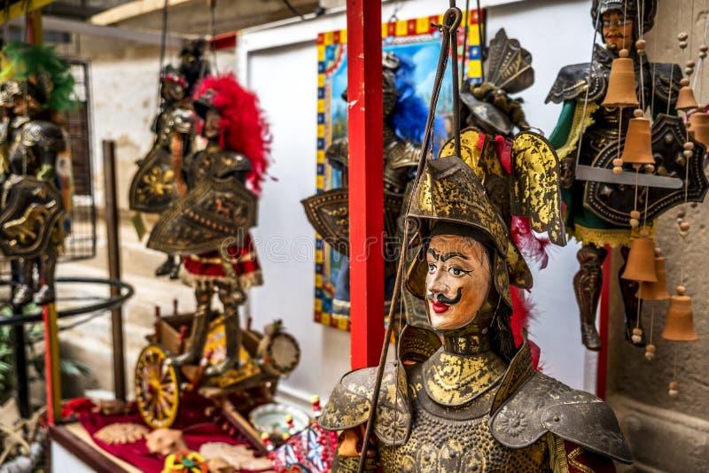 Traditionele Siciliaanse marionetten stock fotografie
