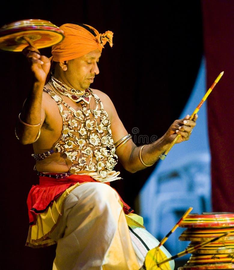 Traditionele sri lankan danser royalty-vrije stock afbeelding