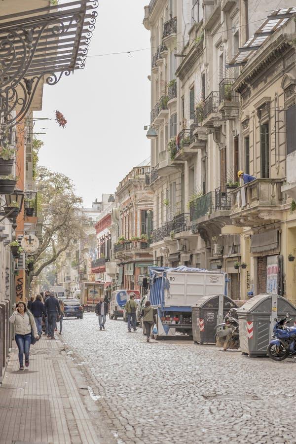 Traditionele Straat van San Telmo in Buenos aires royalty-vrije stock fotografie