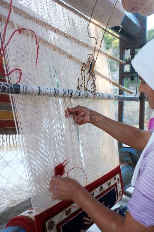 Traditionele tapijtmaker royalty-vrije stock foto's
