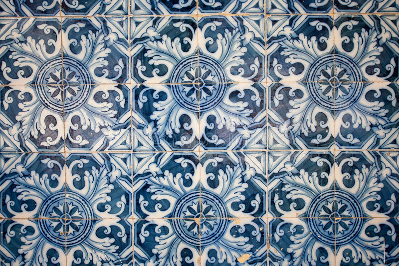 Traditionele tegels (azulejos), Portugal royalty-vrije stock afbeeldingen