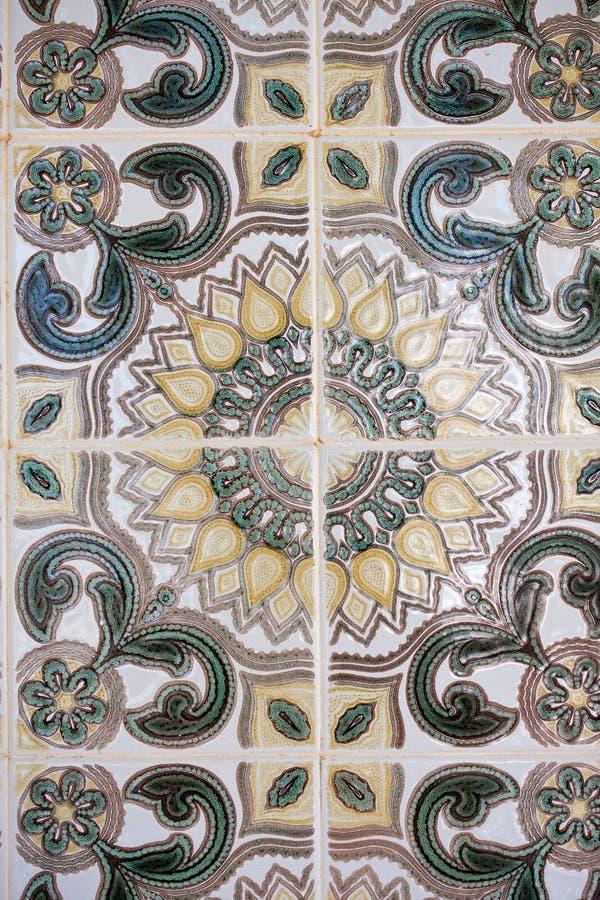 Traditionele tegels (azulejos) in Portugal royalty-vrije stock foto