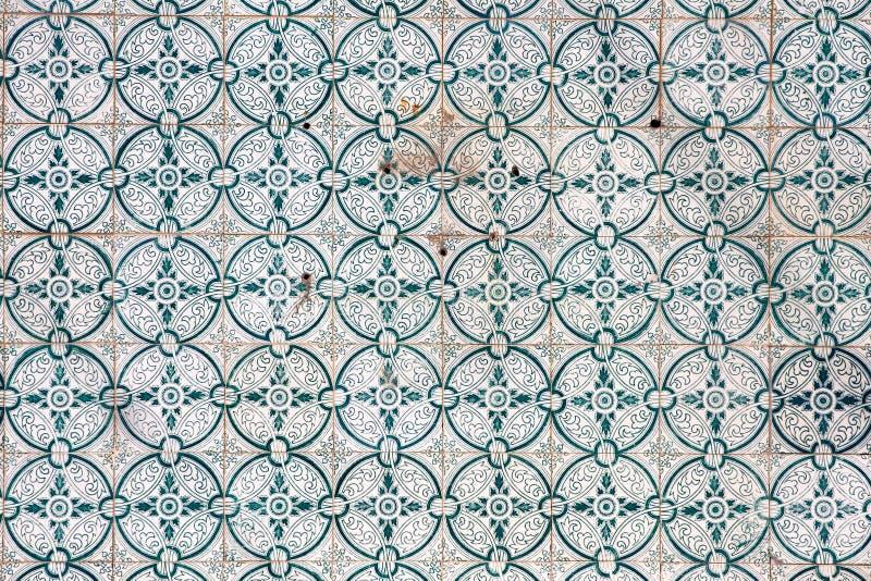 Traditionele tegels (azulejos) in Portugal royalty-vrije stock afbeelding