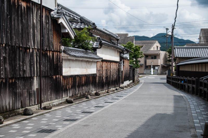 Traditionele Townscape met Oude huizen royalty-vrije stock afbeeldingen