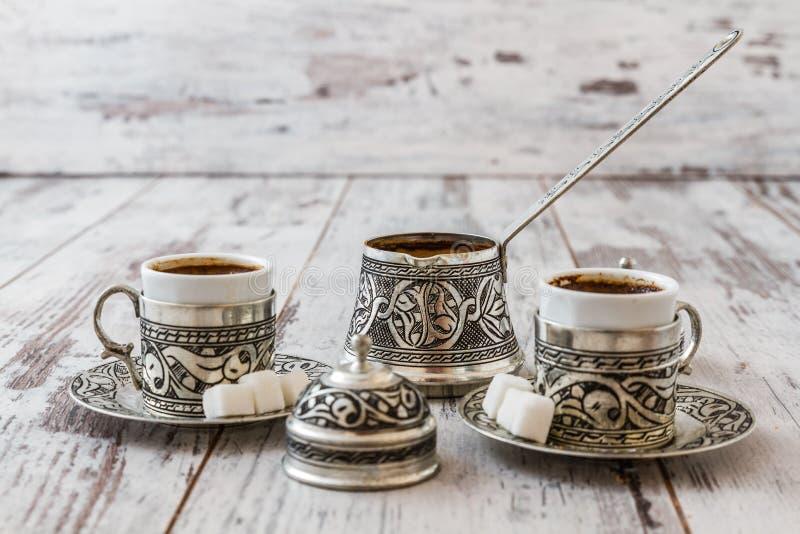 Traditionele Turkse koffie royalty-vrije stock afbeeldingen