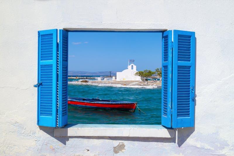 Traditionele vissersboot, Griekenland royalty-vrije stock foto's
