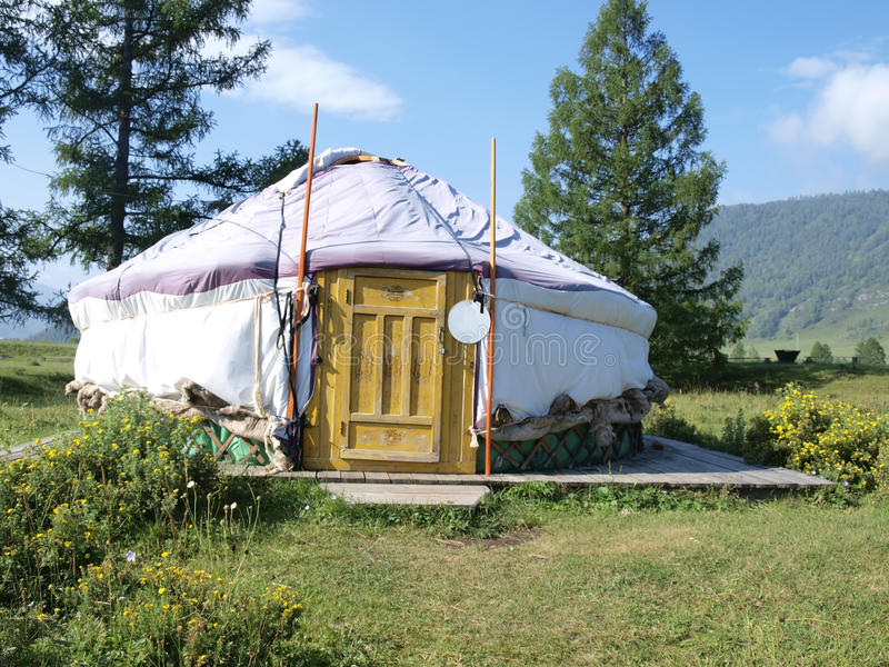 Traditionele yurt royalty-vrije stock afbeelding