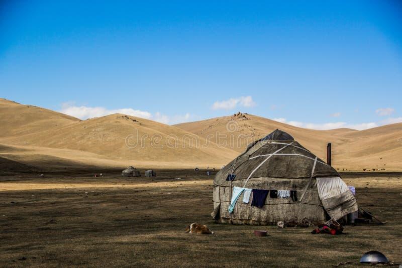 Traditionele Yurt van de stammen van Centraal-Azië royalty-vrije stock foto
