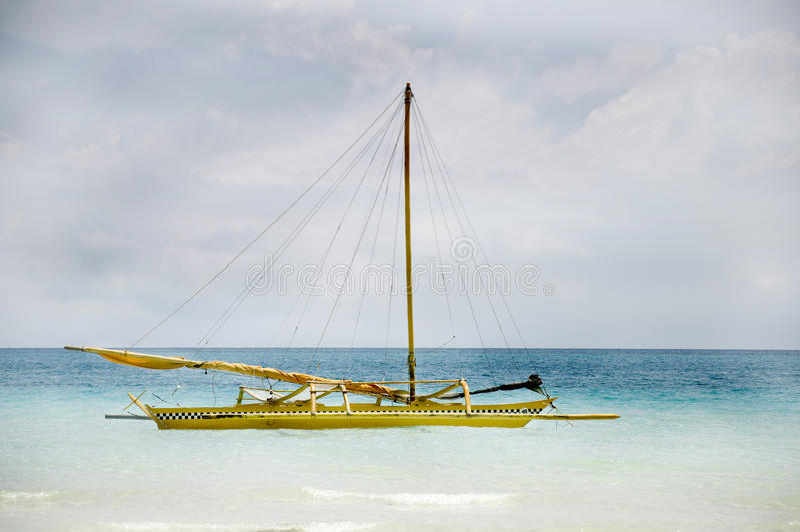 Traditionele Zeilboot op Boracay stock fotografie