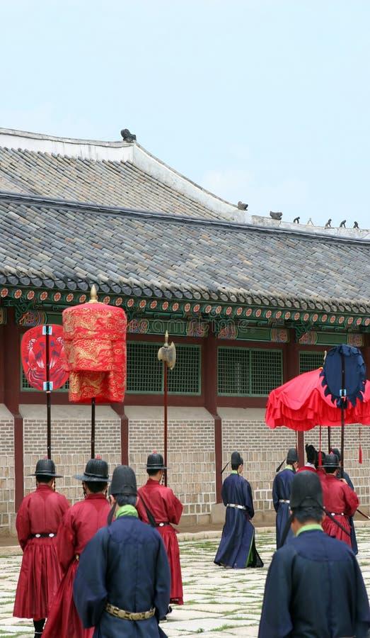 Traditionele Zuidkoreaanse ceremonie royalty-vrije stock afbeelding