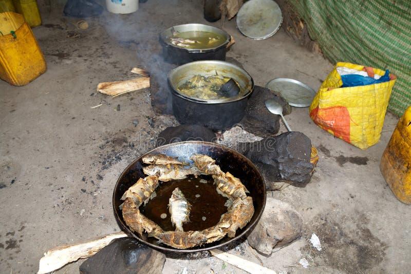 Traditionell afrikansk mat arkivfoto