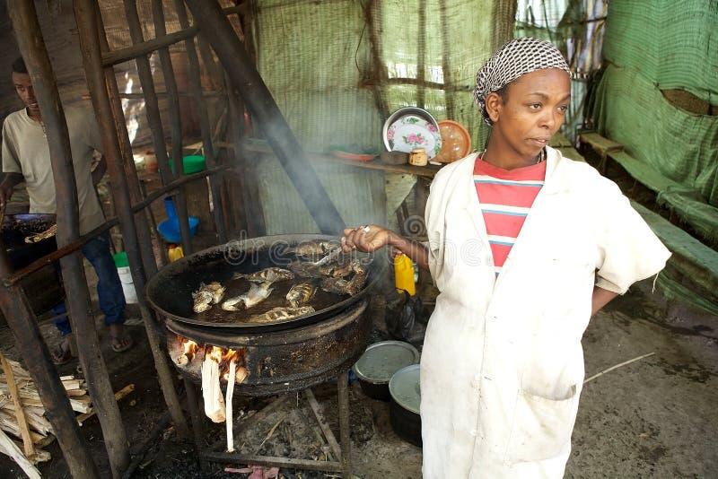 Traditionell afrikansk restaurang royaltyfri foto