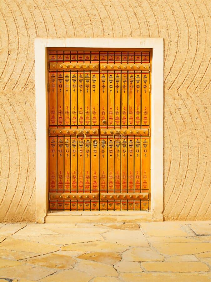 Traditionell arabisk dörröppning arkivfoto