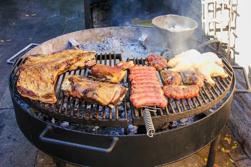 Traditionell argentine asado arkivfoto