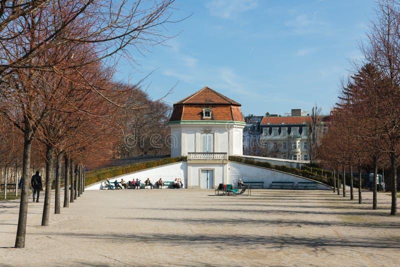 Traditionell arkitektur i gammal stad i Wien, Österrike arkivbilder