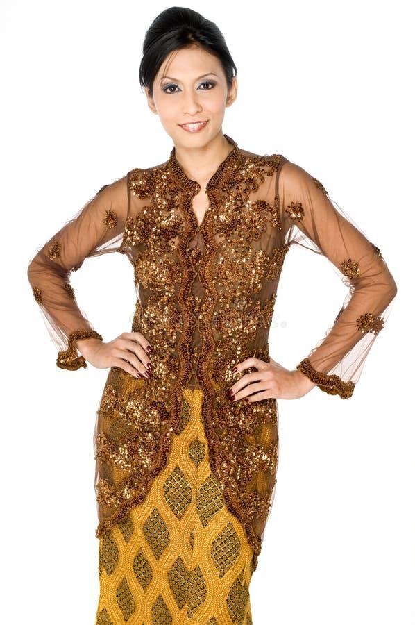 Traditionell asiatisk kvinna royaltyfria foton