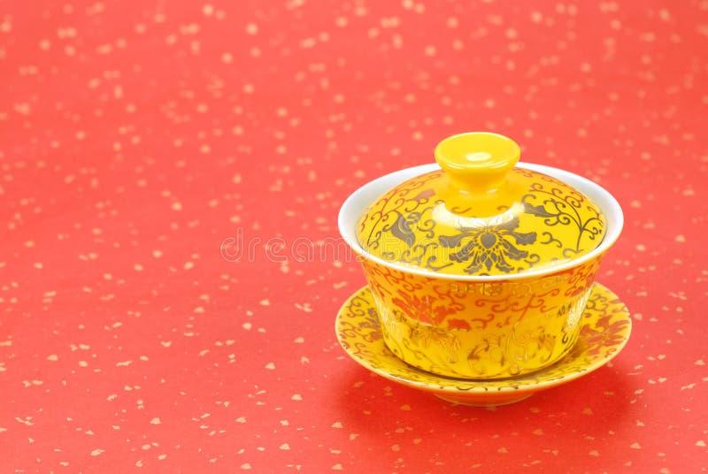 traditionell asiatisk teacup royaltyfri fotografi