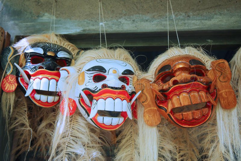 Traditionell Balinesedansmaskering royaltyfri foto