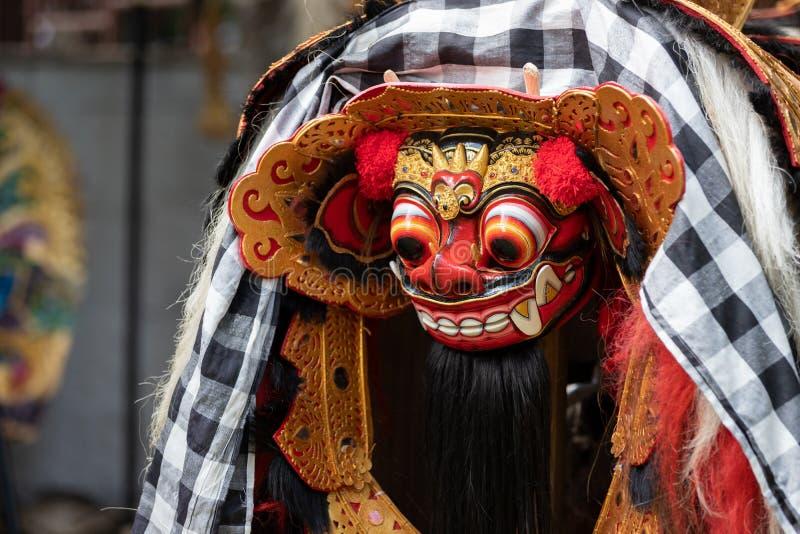 Traditionell Barong maskering från Bali Indonesien arkivfoto