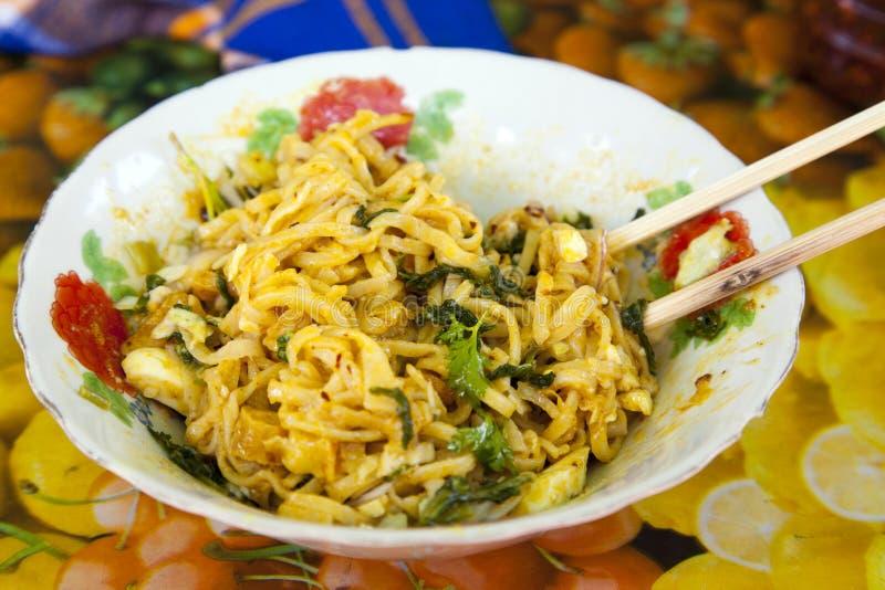 Traditionell Burmese kokkonst royaltyfri foto