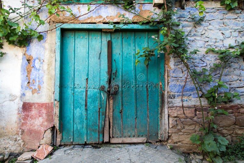 Traditionell dörr i kalkon arkivfoto
