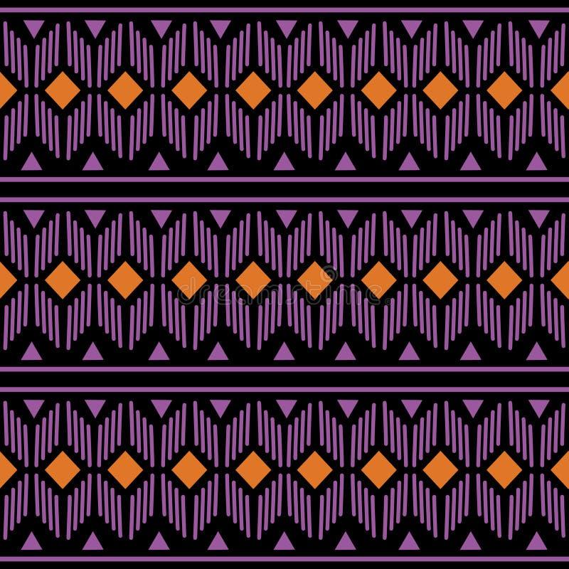 Traditionell design för geometrisk hawaiansk modell för person som tillhör en etnisk minoritet orientalisk sömlös för bakgrund, m vektor illustrationer