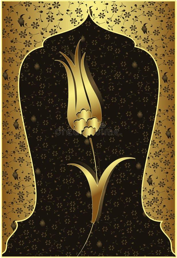 traditionell designguldottoman royaltyfri illustrationer