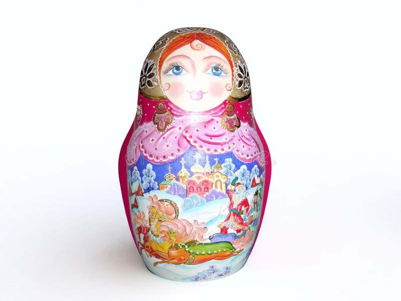 traditionell docka som målas stock illustrationer