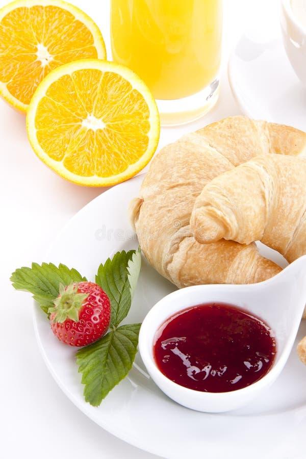 Traditionell fransk isolerad frukostgiffel arkivbild